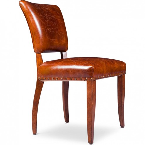 Chaise Vintage Luxueuse - Cuir