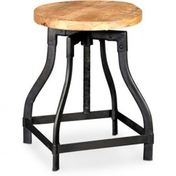 Kinawa vintage industrial style adjustable stool